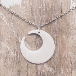 large crescent moon pendant