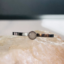 tiny dot stainless steel ring