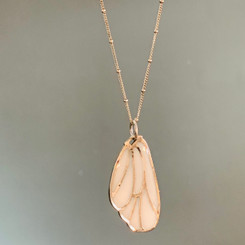 satin butterfly wing pendant