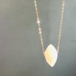 delicate gem necklace