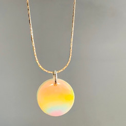 rainbow breast milk pendant