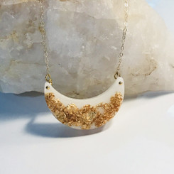 half moon delicate necklace