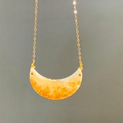 half moon delicate necklace