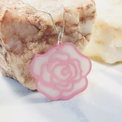 rose breast milk pendant