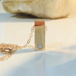 delicate bar necklace