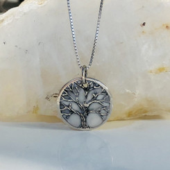 textured tree of life charm