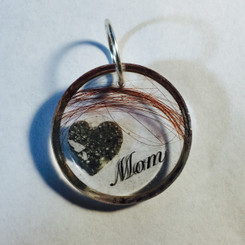 memorial ashes and hair pendant