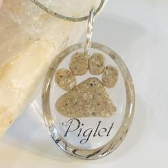 paw print memorial pendant