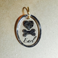 heart and bone memorial pendant
