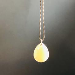 faceted teardrop pendant
