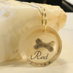pet memorial ashes and hair pendant