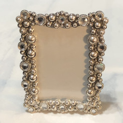 crystal studded picture frame