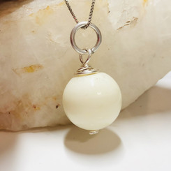 wire wrapped breast milk pearl