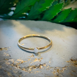 14K yellow gold dainty ring