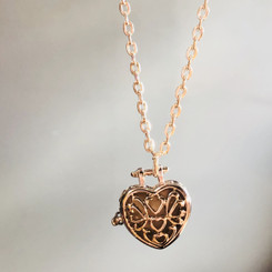 heart filigree locket