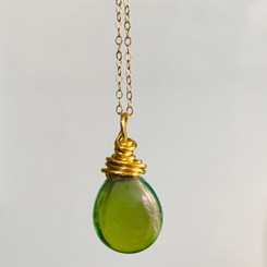 birthstone teardrop pendant