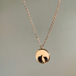 mother and child hedgehog necklace
