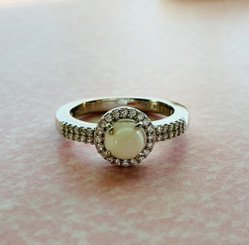 double row halo ring