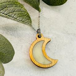 wooden moon pendant