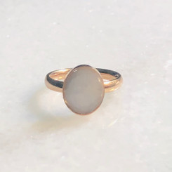 stainless oval ring