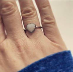 stainless heart ring