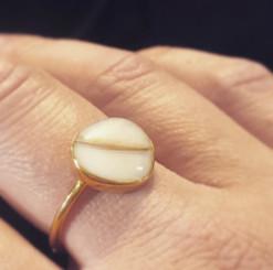 stainless teardrop ring