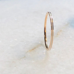 rose gold thin band