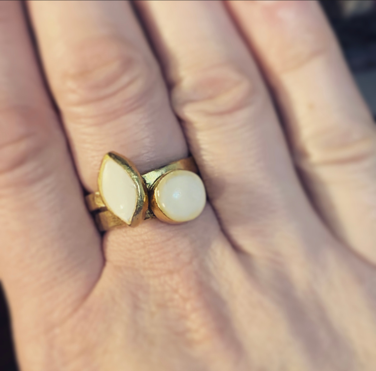 organic shapes ring