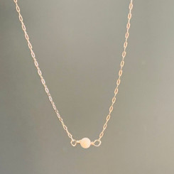 delicate pearl link necklace