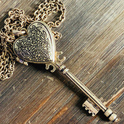 heart key memorial locket