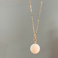 14K gold breast milk pearl