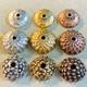 hammered silver, hammered gold, hammered copper flower silver, flower gold, flower copper urchin silver, urchin gold, urchin copper