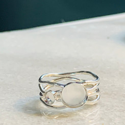 double bezel wave ring