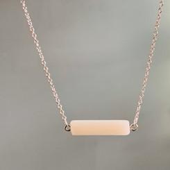 cylinder link necklace