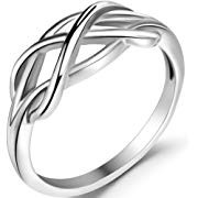 stainless braided knot ring
