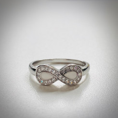 crystal infinity ring