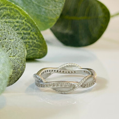 infinity twisted crystal ring