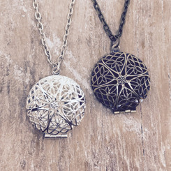 filigree memorial locket