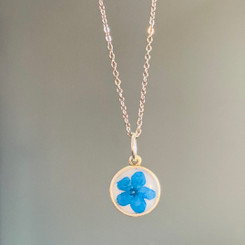 forget me not circle charm