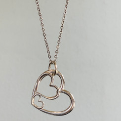 unfilled triple hearts charm