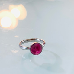 circle gemstone milk ring