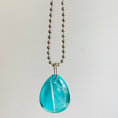 feather turquoise teardrop