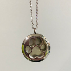 paw print memorial locket