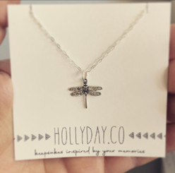 dragonfly memorial necklace