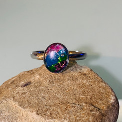 oval gemstone milk ring