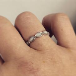 14k gold infinity ring