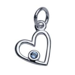 birthstone heart charm