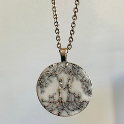 family tree of life milk pendant