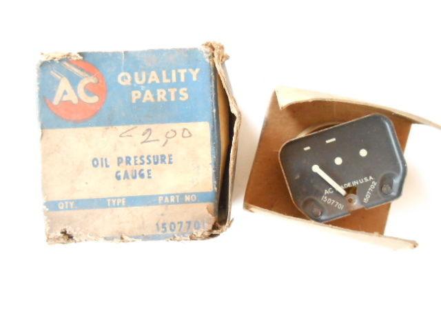 1953 1954 Chevrolet AC Oil Pressure Gauge NOS