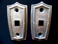 Vintage RARE BRASS DOME COURTESY LIGHT ESCUTCHEON TOGGLE SWITCH PLATE HUPMOBILE